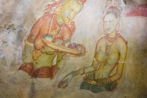 A Cave Painting Of The Buddhist Goddess Tara In Sigiriya No. 2