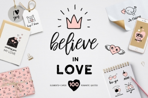 Believe in Love - Valentines set