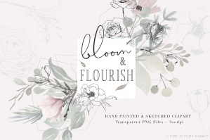 Bloom and Flourish - Botanical Clipart