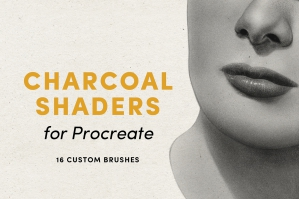 Charcoal Shaders – Procreate Brushes