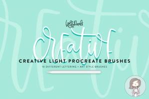 Creative Light Procreate Brushes For Lettering