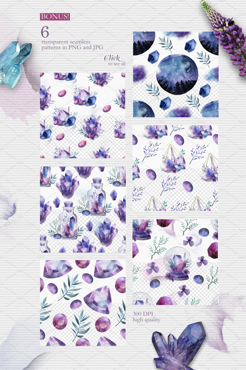 Crystalline Watercolor Collection