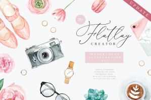 Flatlay Creator Watercolor Kit