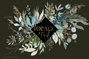 Foliage And Foil - Botanical Clipart