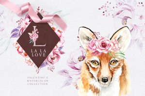 La La Love. Valentine's Graphic Set