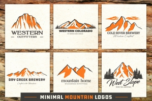 Minimal Mountain Logo Templates