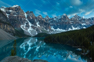 Moonlit Image Of Moraine Lake