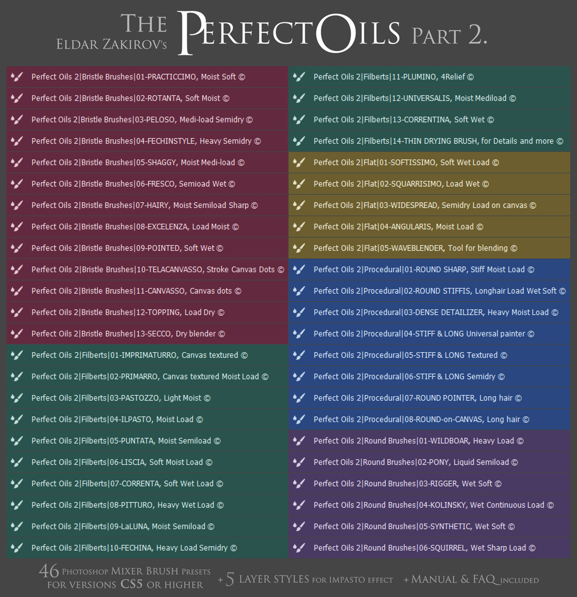 Oil Paints Mixer Brushes for Photoshop 2