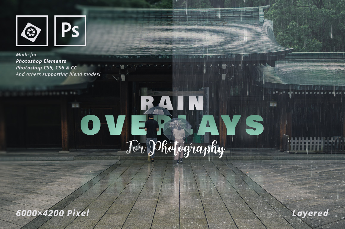 Rain Overlays For Photography