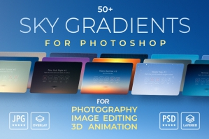Sky Gradients For Photoshop - Sky Overlays