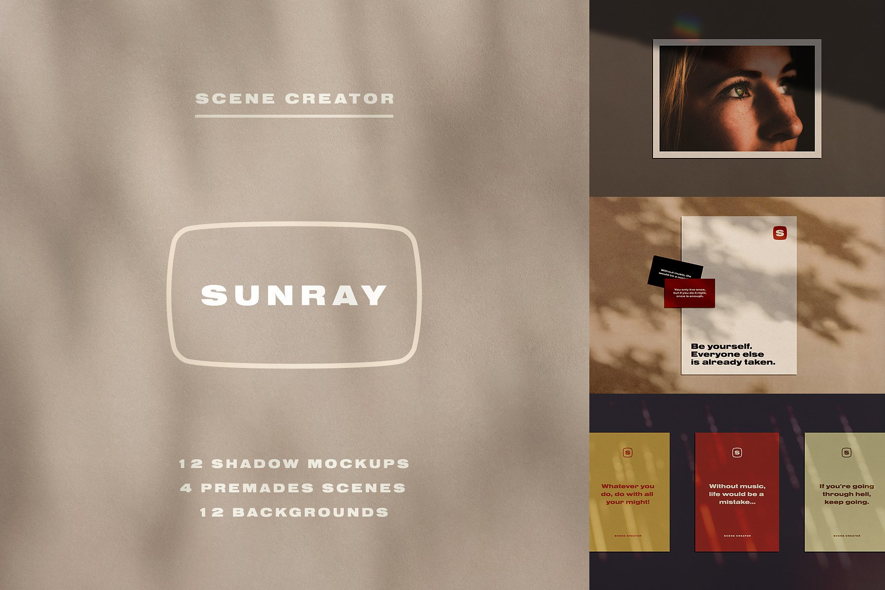 Sunray Stationery Shadow Mockups