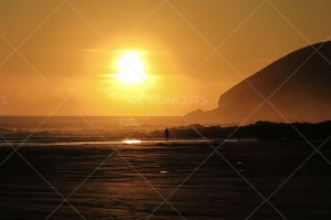 Sunset Over A North Devon Beach, UK No. 1