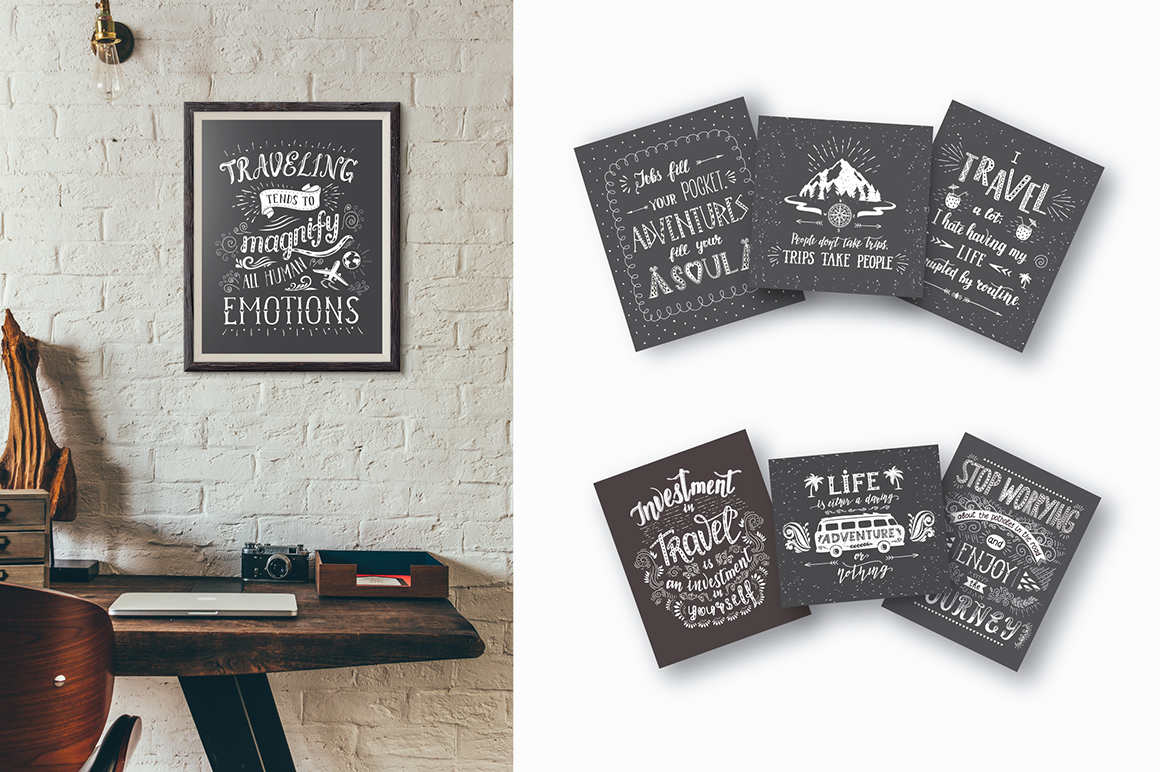Travel Hand Drawn Lettering
