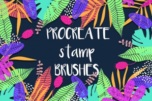 Tropical Procreate Stamp Brushes