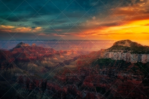 Vibrant Sunset Illuminates The Grand Canyon