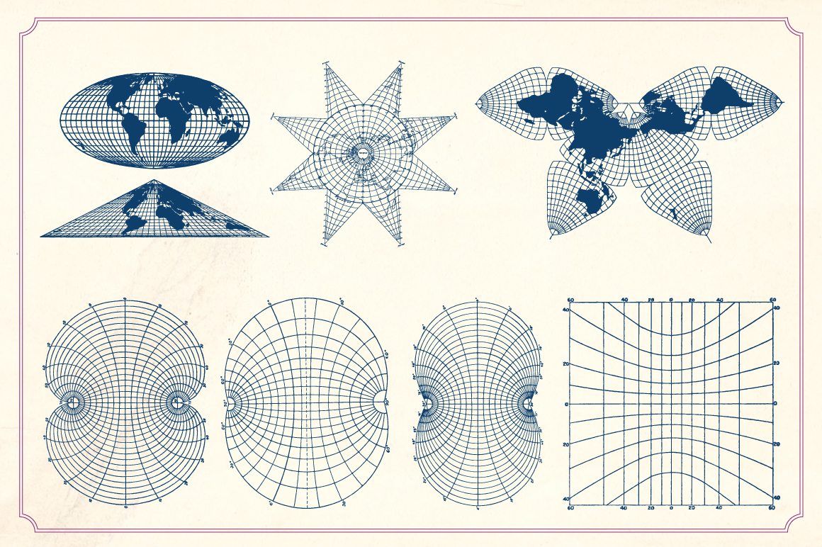 Vintage Maps And Grids