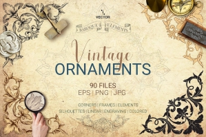 Free: Vector Baroque Ornament Elements