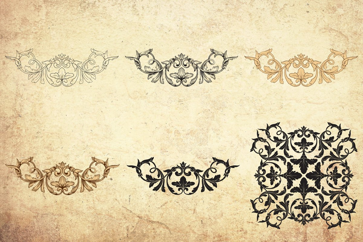 Vintage Ornaments In Baroque Style