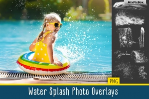 Water Splash Photo Overlays