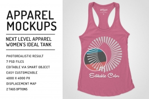 Women Ideal Racerback Tank Mockups
