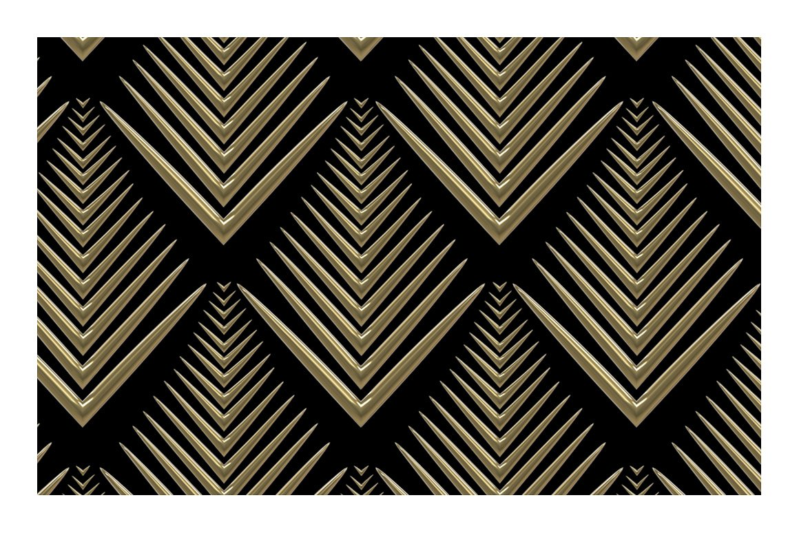 3D Art Deco Patterns For Photoshop
