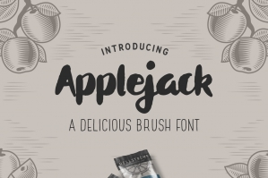 Applejack - A Delicious Brush Font