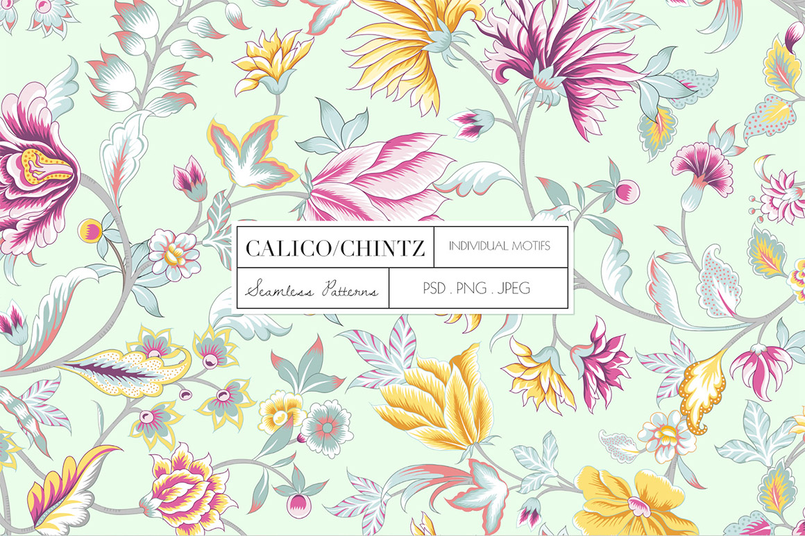 Calico Seamless Chintz Pattern