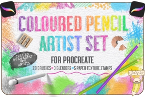 Coloured Pencil Artist Set - For Procreate