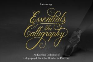 Essential Calligraphy Brush Kit for Procreate