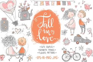 Fall In Love Romantic Graphic Kit