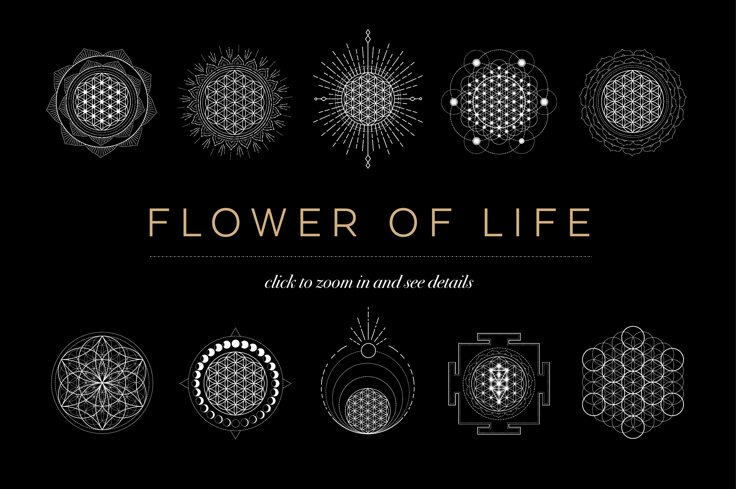 Flower Of Life Vector Logo Collection