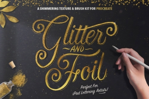 Glitter and Foil Kit for Procreate