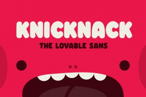 Knicknack - The Lovable Sans Serif