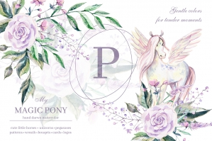 My Magic Pony Watercolor Collection