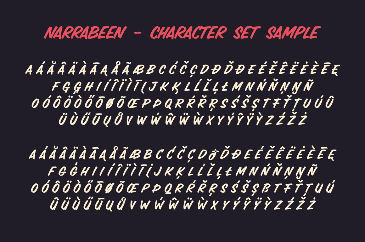 Narrabeen - Sign Painter Style Typeface