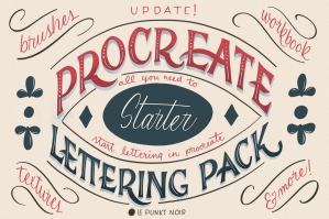 Procreate Lettering Starter Pack