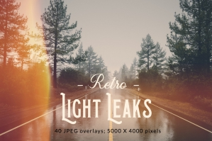 Retro Light Leak Overlays