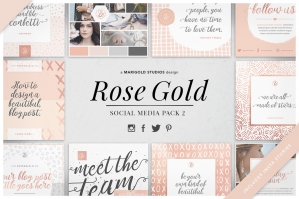 Rose Gold - Social Media Pack 2