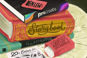 Storybook Illustrator Brushes for Procreate