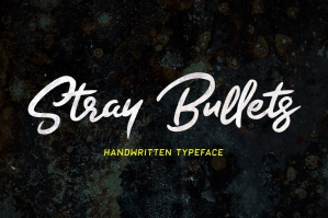 Stray Bullets - Handwritten Typeface