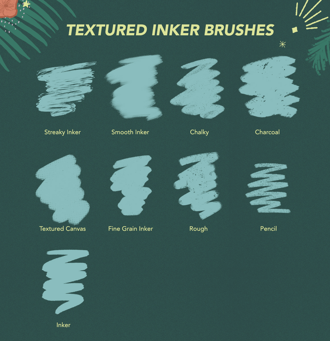 Texture Toolkit Brushes for Procreate