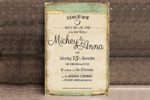 Vintage Journey Wedding Invitation