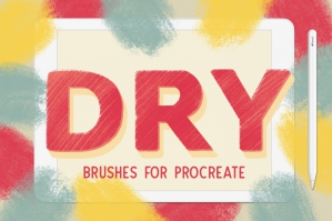 Dry Brush Set for Procreate