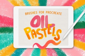 Oil Pastel Brush Set For Procreate