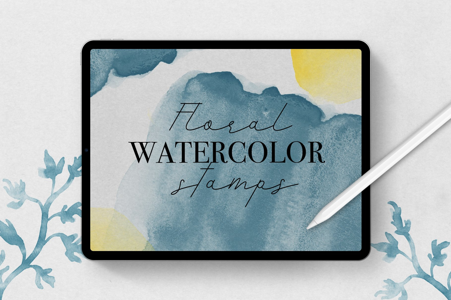 Watercolor Stamp Brushes For Procreate