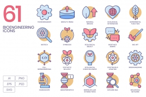 61 Bioengineering Icons