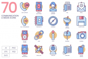 70 Communication Icons