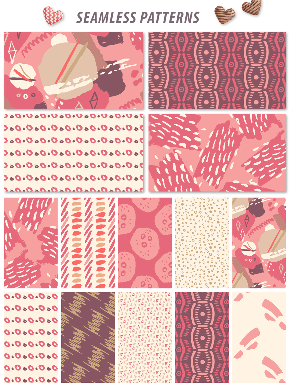 Abstract Hand Drawn Patterns & Artboards