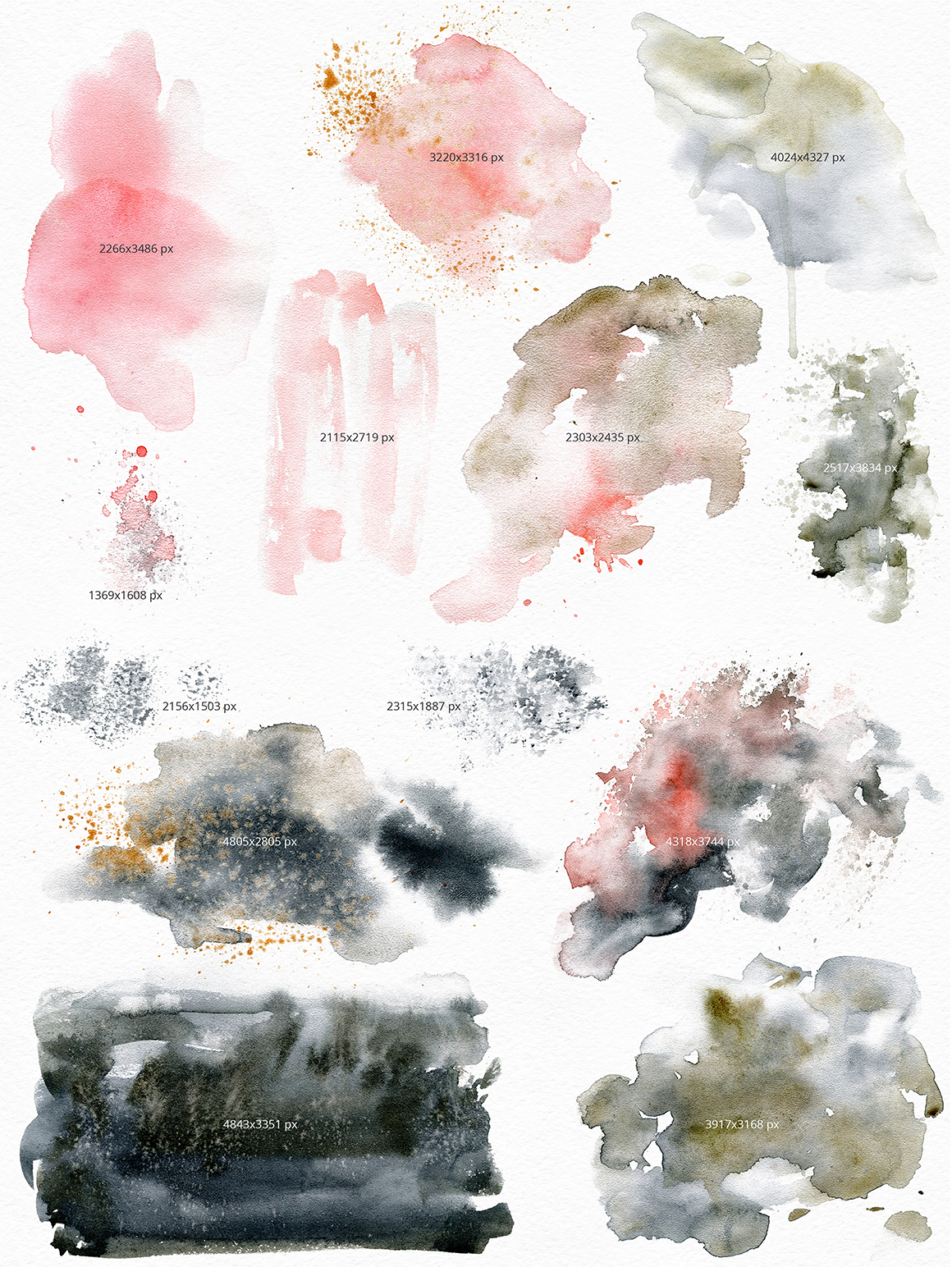 Black Sand - Watercolor Texture Pack