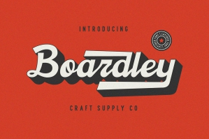Boardley Script - Layered Font